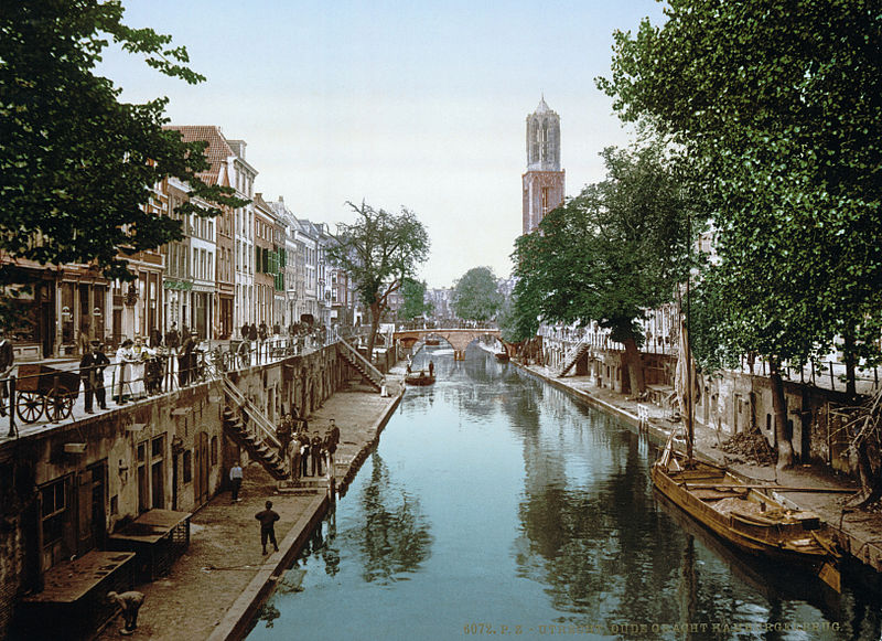 oude gracht en Hamburgerbrug in 1900